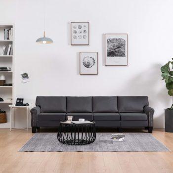 Kavč štirised temno sivo blago