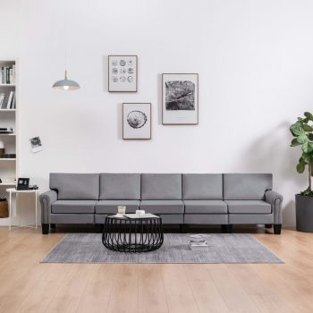 Kavč petsed svetlo sivo blago