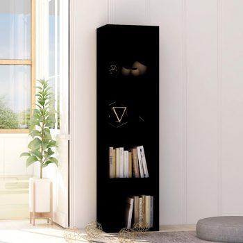 Knjižna omara črna 40x30x151