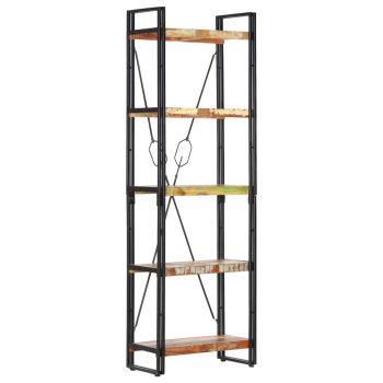Knjižna omara 5-nadstropna 60x30x180 cm trden predelan les
