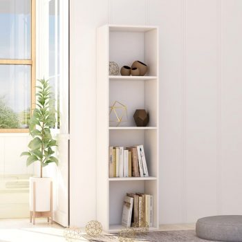 Knjižna omara bela 40x30x151