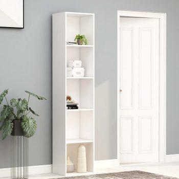 Knjižna omara bela 40x30x189 cm iverna plošča