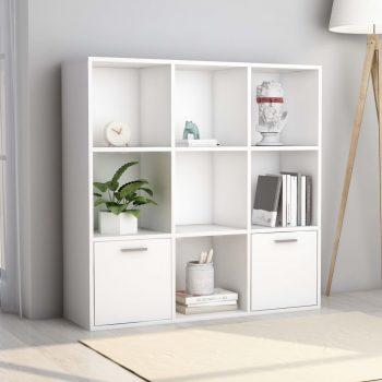 Knjižna omara bela 98x30x98 cm iverna plošča