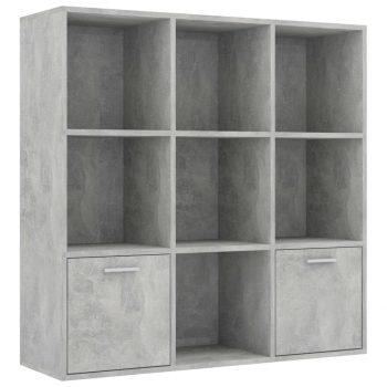 Knjižna omara betonsko siva 98x30x98 cm iverna plošča