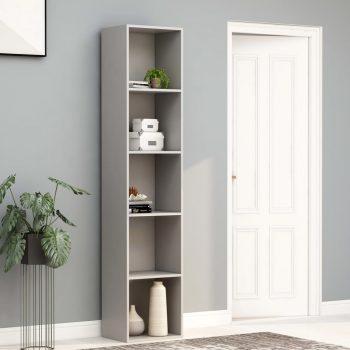 Knjižna omara siva 40x30x189 cm iverna plošča
