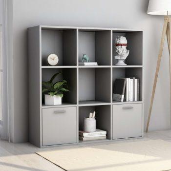 Knjižna omara siva 98x30x98 cm iverna plošča