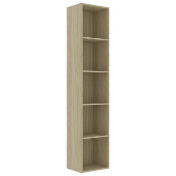 Knjižna omara sonoma hrast 40x30x189 cm iverna plošča