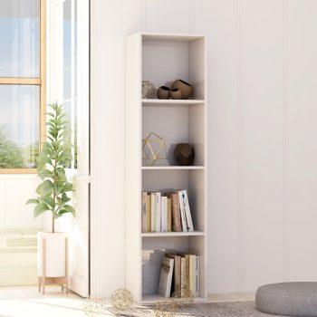 Knjižna omara visok sijaj bela 40x30x151