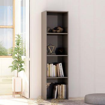 Knjižna omara visok sijaj siva 40x30x151