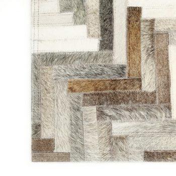 Preproga iz pravega kosmatega usnja 160x230 cm sivo/bela