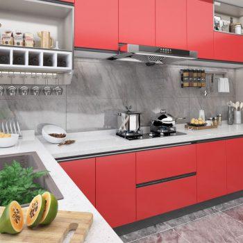 Samolepilna folija za pohištvo rdeča 500x90 cm PVC