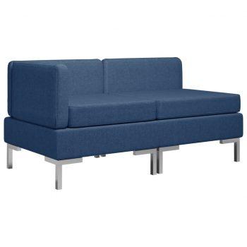 Sedežna garnitura 2-delna blago modra