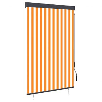 Zunanje rolo senčilo 120x250 cm belo in oranžno
