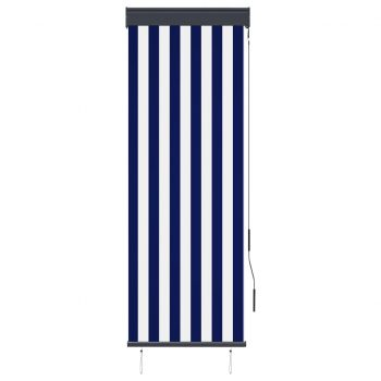 Zunanje rolo senčilo 60x250 cm modro in belo