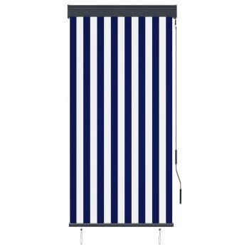Zunanje rolo senčilo 80x250 cm modro in belo