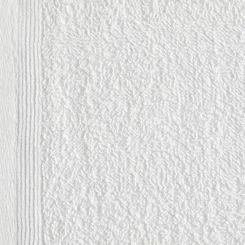 Brisače za goste 10 kosov bombaž 450 gsm 30x50 cm bele
