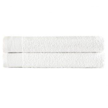 Brisače za roke 2 kosa bombaž 450 gsm 50x100 cm bele
