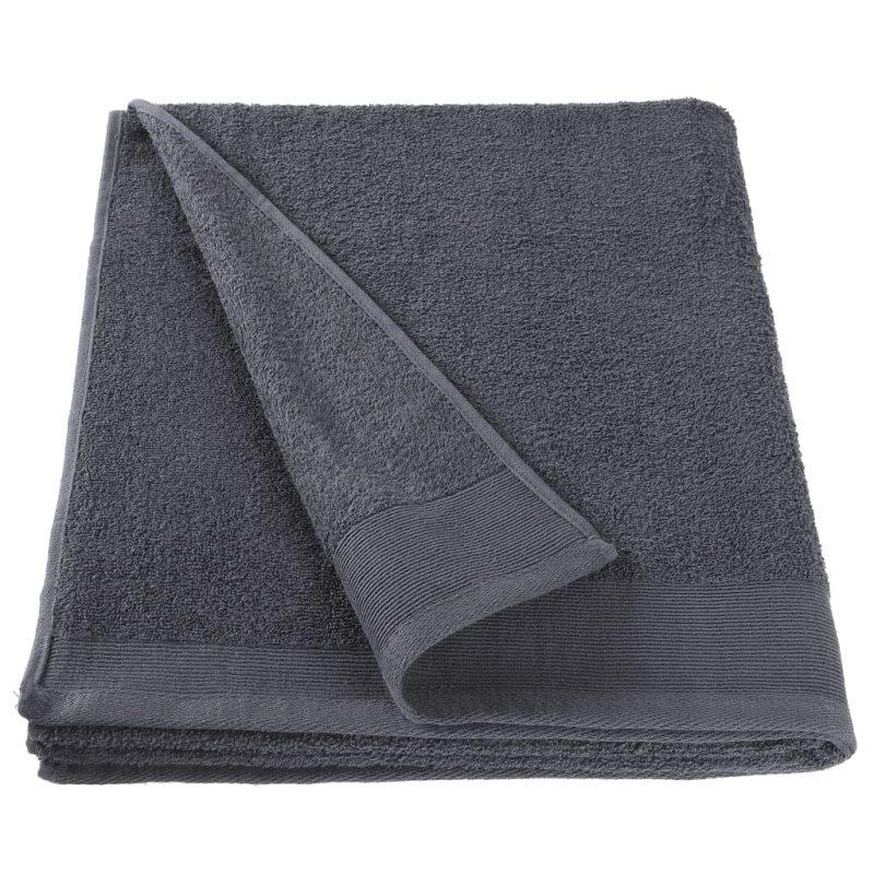 Brisače za roke 5 kosov bombaž 450 gsm 50x100 cm antracitne