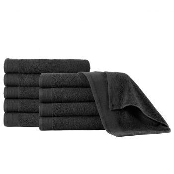 Brisače za roke 5 kosov bombaž 450 gsm 50x100 cm črne