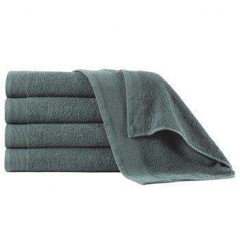 Brisače za tuširanje 5 kosov bombaž 450 gsm 70x140 cm zelene