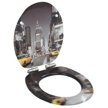 Deska za WC školjko s počasnim zapiranjem 2 kosa MDF New York