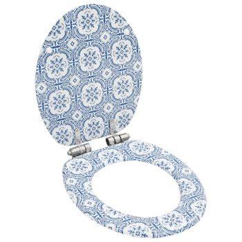Deske za WC školjko s počasnim zapiranjem 2 kosa MDF porcelan