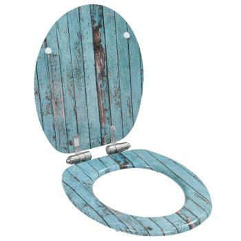Deske za WC školjko s počasnim zapiranjem 2 kosa MDF star les