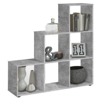 FMD Razdelilnik prostora s 6 predelki betonsko siv