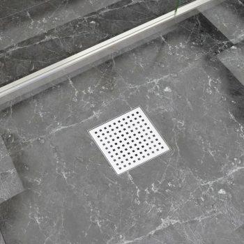 Kanaleta za tuš 15x15 cm nerjaveče jeklo