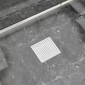 Kanaleta za tuš 20x20 cm nerjaveče jeklo
