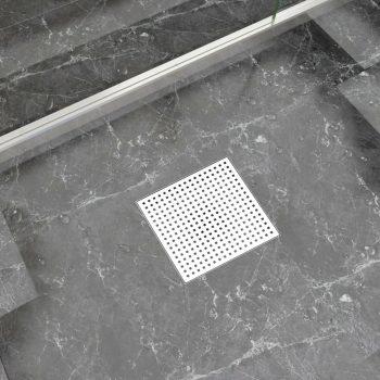 Kanaleta za tuš 25x25 cm nerjaveče jeklo