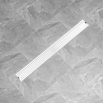 Kanaleta za tuš z luknjicami 103x14 cm nerjaveče jeklo