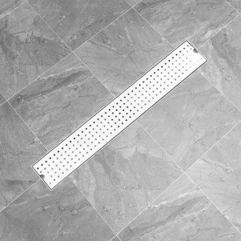 Kanaleta za tuš z luknjicami 73x14 cm nerjaveče jeklo