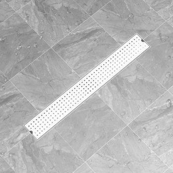 Kanaleta za tuš z luknjicami 83x14 cm nerjaveče jeklo