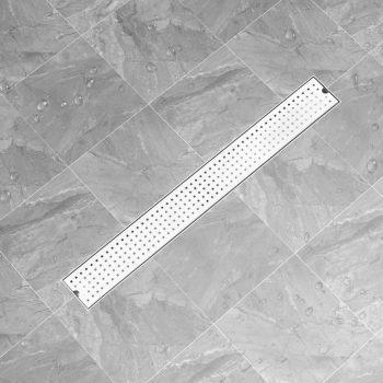 Kanaleta za tuš z luknjicami 93x14 cm nerjaveče jeklo