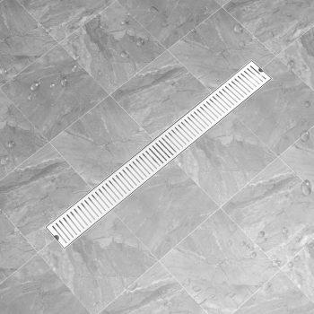 Kanaleta za tuš z režami 103x14 cm nerjaveče jeklo