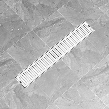Kanaleta za tuš z režami 83x14 cm nerjaveče jeklo