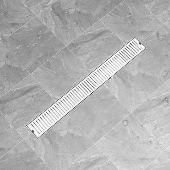 Kanaleta za tuš z režami 93x14 cm nerjaveče jeklo