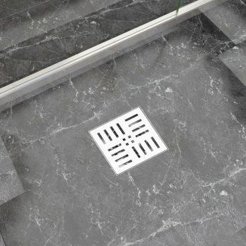 Kanaleta za tuš z vzorcem 12x12 cm nerjaveče jeklo