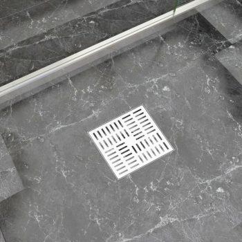 Kanaleta za tuš z vzorcem 20x20 cm nerjaveče jeklo