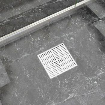 Kanaleta za tuš z vzorcem 25x25 cm nerjaveče jeklo