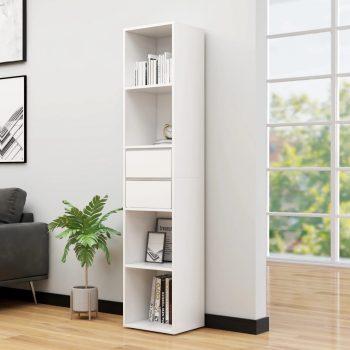 Knjižna omara bela 36x30x171 cm iverna plošča