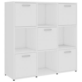 Knjižna omara bela 90x30x90 cm iverna plošča