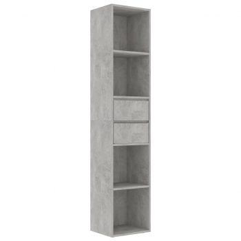 Knjižna omara betonsko siva 36x30x171 cm iverna plošča