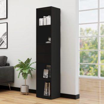 Knjižna omara črna 36x30x171 cm iverna plošča