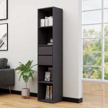 Knjižna omara siva 36x30x171 cm iverna plošča