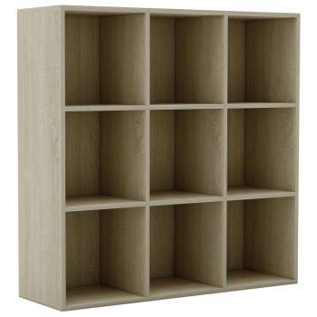 Knjižna omara sonoma hrast 98x30x98 cm iverna plošča