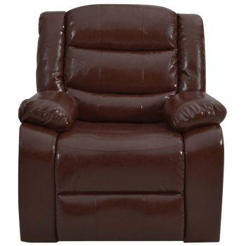 Masažni fotelj rjavo umetno usnje