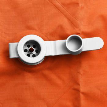 Napihljiva vzmetnica z blazino 58x190 cm oranžna