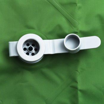 Napihljiva vzmetnica z blazino 58x190 cm zelena